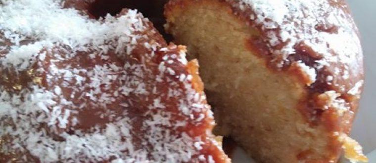 עוגת וניל נדירה בטעמה בציפוי קרמל