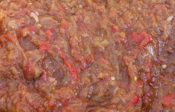 סלט חצילים ופלפלים מרוקאי זעלוק