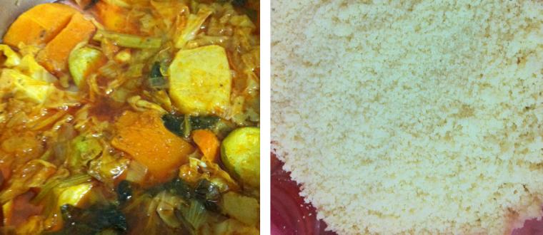קוסקוס אמיתי עם מרק ירקות עשיר בתוספת בונוס
