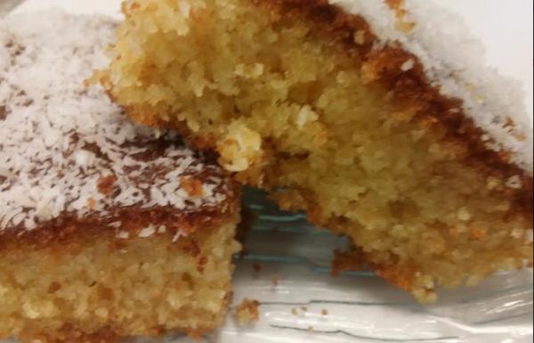 עוגת סולת ותפוזים רטובה ונימוחה