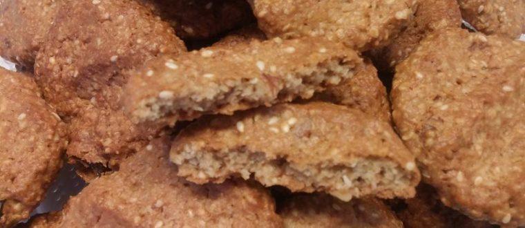 עוגיות שיבולת שועל וטחינה עתירות בריאות וממכרות