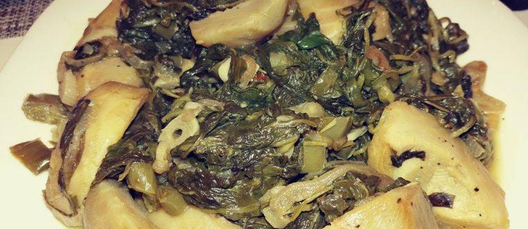 תבשיל ארטישוק עם תרד ושום