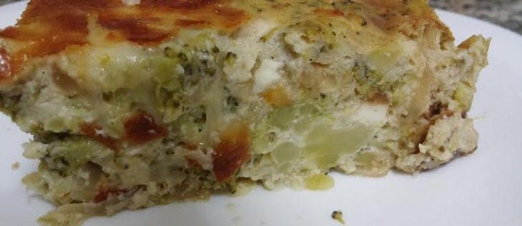 פשטידת ברוקולי עם גבינות משגעת