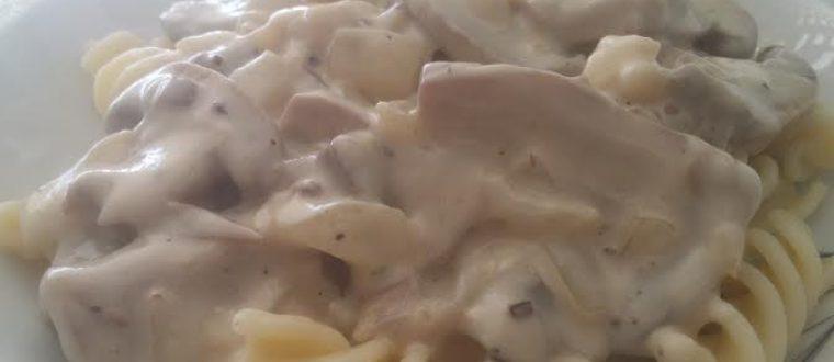 פסטה ברוטב שמנת ופטריות שמפיניון מעדן אמיתי